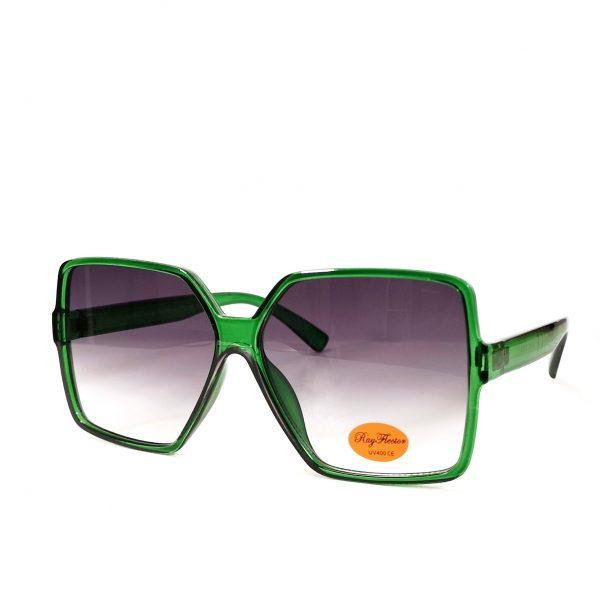 Green Thin Frame Oversize Sunglasses
