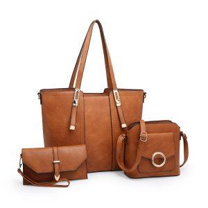 Brown Tripple Bag Set