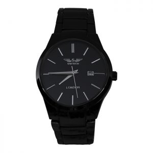 Black Analogue Mens Watch
