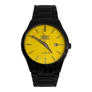 Yellow Face Mens Analogue Watch