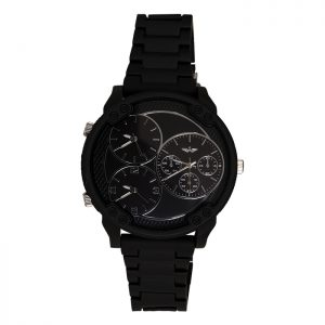 Softech Black Oversize Face Gent Watch