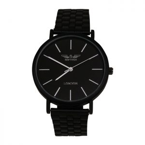 Softech London Black with White Digits Unisex Watch