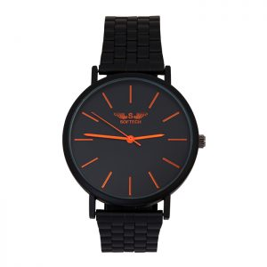 Softech Black with Orange Digits Unisex Watch