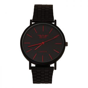 Softech Black With Red Digits Unisex Watch