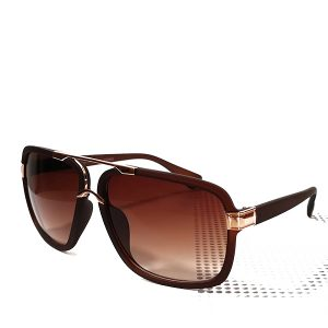 Brown Gold Bridge Gents Sunglasses