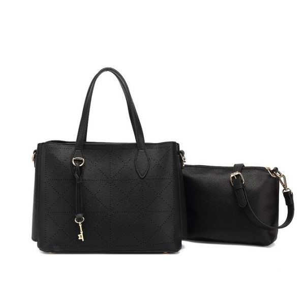 Black handbag with pouch