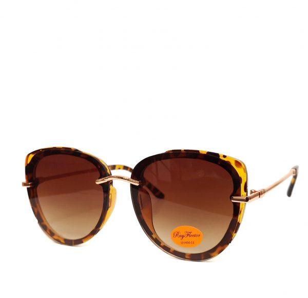 Leopard Print Medium Frame Cat Eye Sunglasses