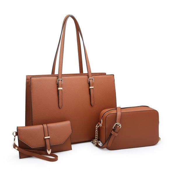 Brown Triple Bag Set