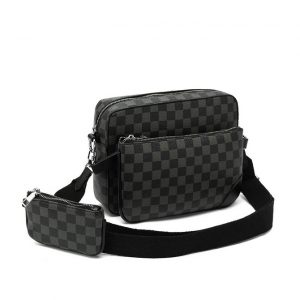 Black Check 3 Piece bag Set