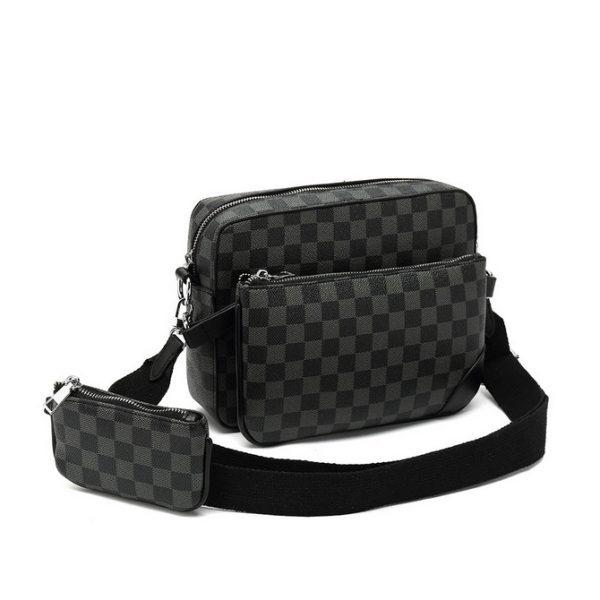 Black Check 3 Piece bag Set