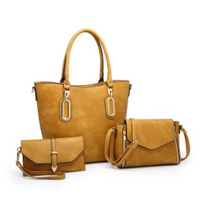 Mustard 3 piece bag set
