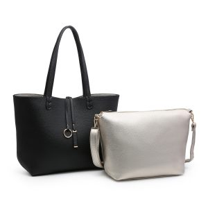 Black 2 in 1 Shoulder Bag set
